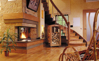 Камин в гостиной: стиль и комфорт