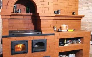 Как сделать печь-камин с плитой и духовкой