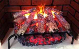 Имитация очага с искусственным огнем