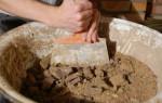 Материалы для печей: песок и шамот