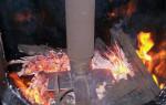 Работа печи — процесс горения топлива