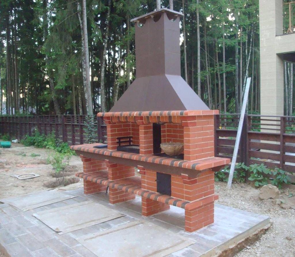 Печь Барбекю своими руками для дачи, дома и бани из кирпича