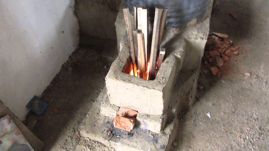 Ракетная печь своими руками из кирпича или газового баллона